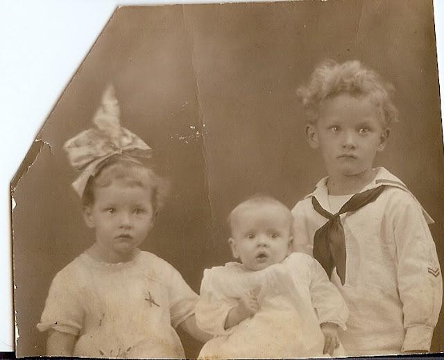 Charlotte Verna, Barbara Lauriet, Robert Bailey, Peabody, kids, children, sepia, photo