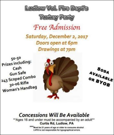 12-2 Turkey Party, Ludlow VFD