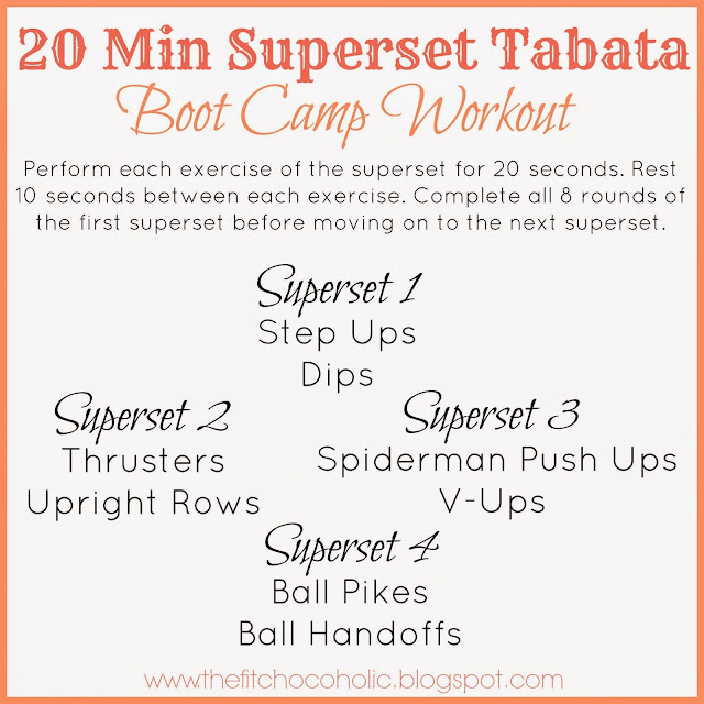 20 Minute Superset Tabata Bootcamp Workout