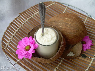 Krem z wiórek kokosowych