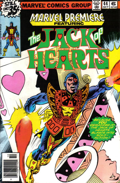 MARVEL PREMIERE #44 FEATURING THE JACK OF HEARTS!