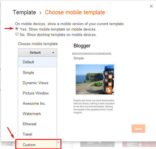 How To Change Blogger Template Version of Mobile  How To Change Blogger Template Version of Mobile (Mobile)