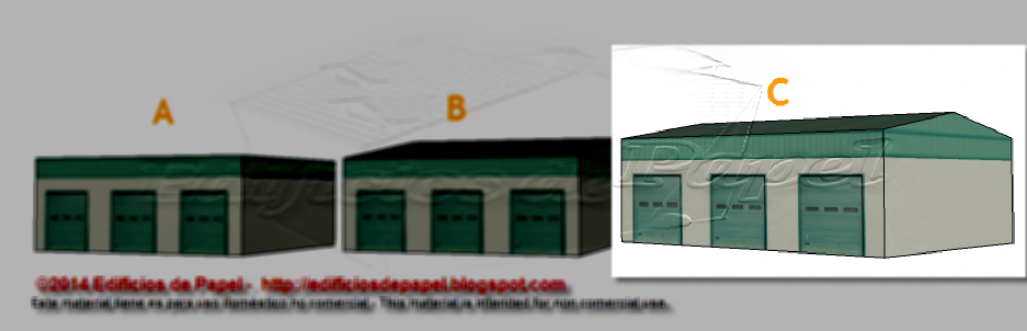 C Building of the Logistic Warehouse paper model
