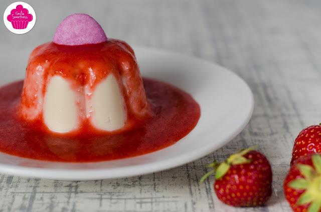 Panna cotta fraise tagada purple - recette facile