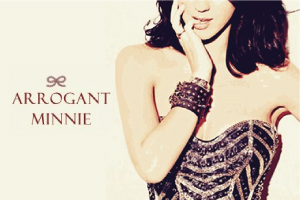The Arrogant Minnie Advertisement Banner