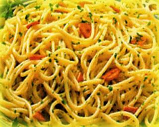 Espaguetis al ajo