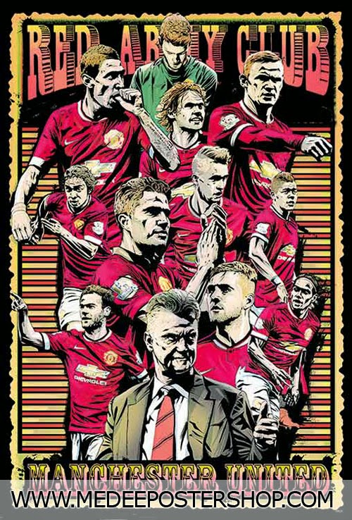 MANCHESTER UNITED 2015 POSTER