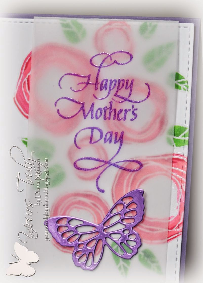 Diana Nguyen, Verve, Mother's Day, Quietfire Design, Poppystamps, butterfly, mom, card