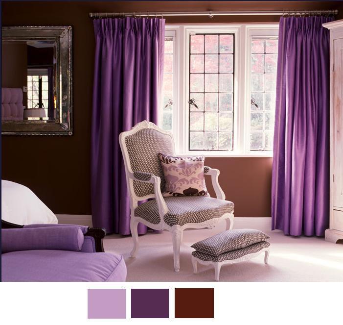 Decoracion actual de moda decoraci n con tonos morados - Gama de colores morados ...