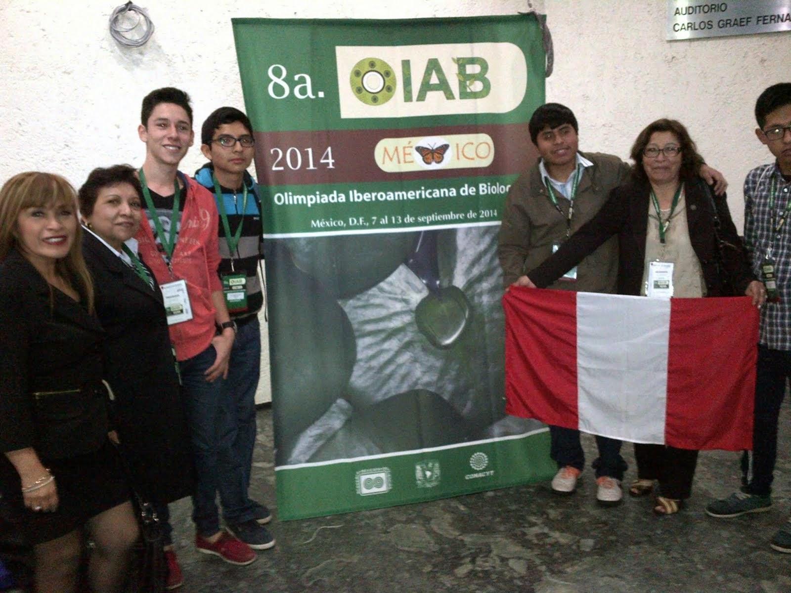 8va OLIMPIADA IBEROAMERICANA DE BIOLOGÍA OIAB MÉXICO 2014.