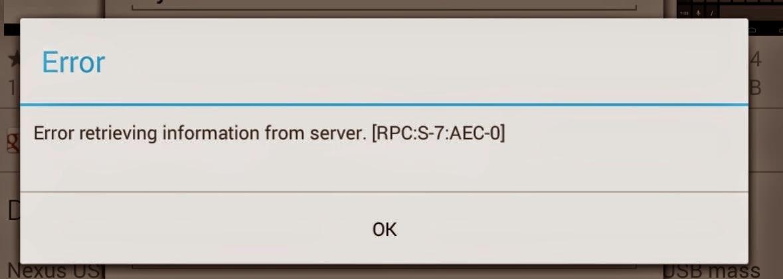 error whatsapp rpc s-7 aec-7