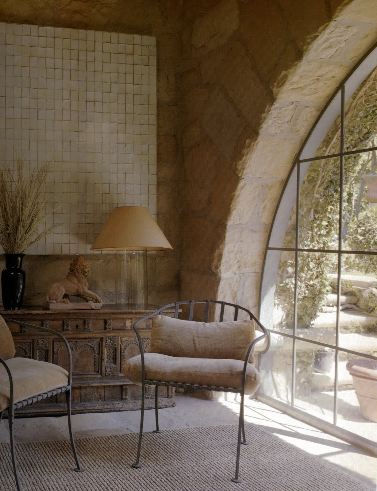 The peak of tr s chic designer crush john saladino for Window design interiors