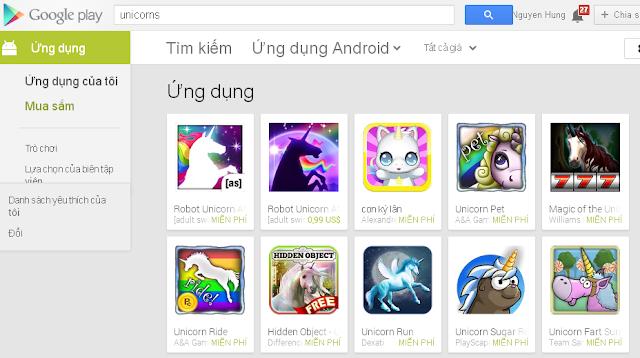 Trứng Phục Sinh: Kỳ Lân Trong Google Play