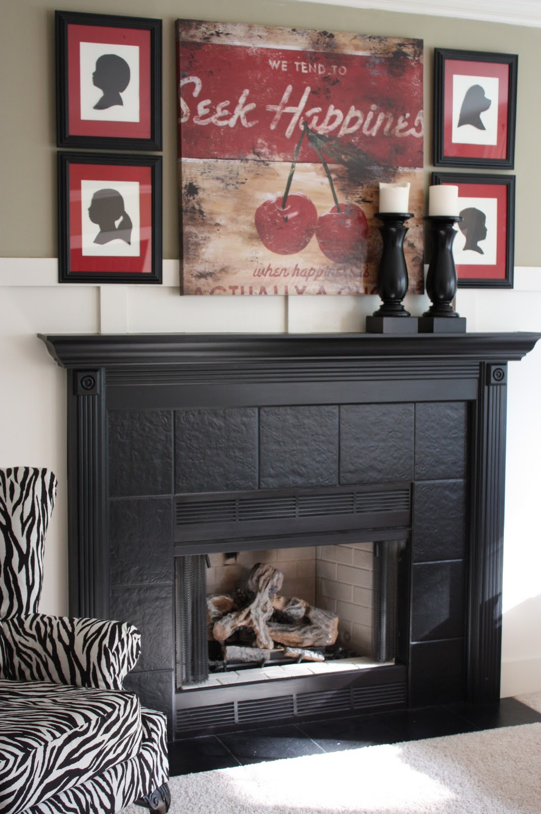 The yellow cape cod diy projects for Colors to paint a fireplace