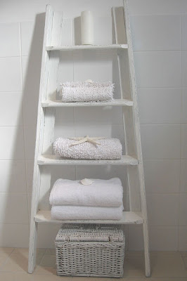 ladder decor for the bathroom
