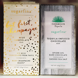Sugarfina Champagne and Tequila-infused candy bars.