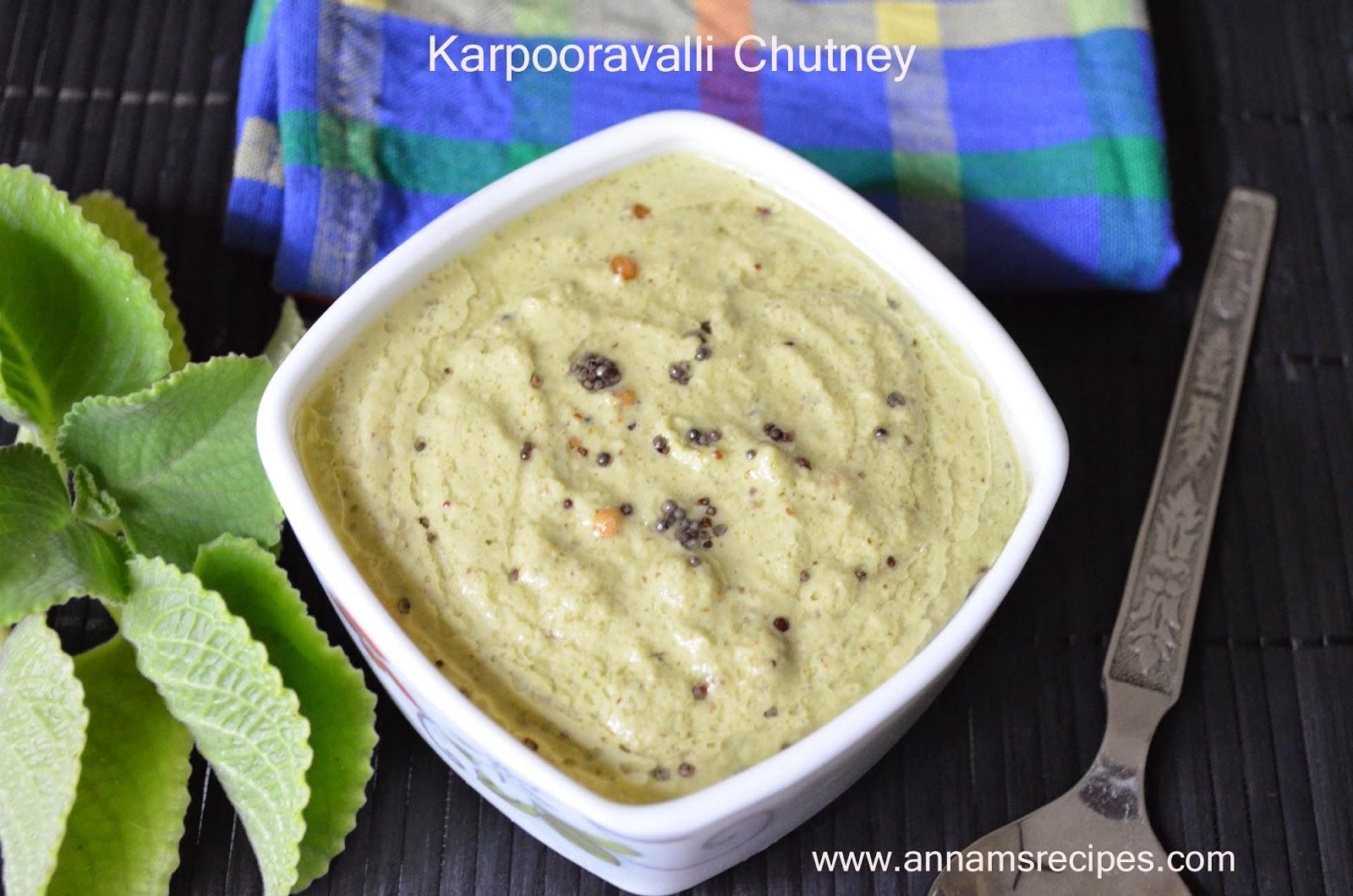 Karpooravalli Chutney