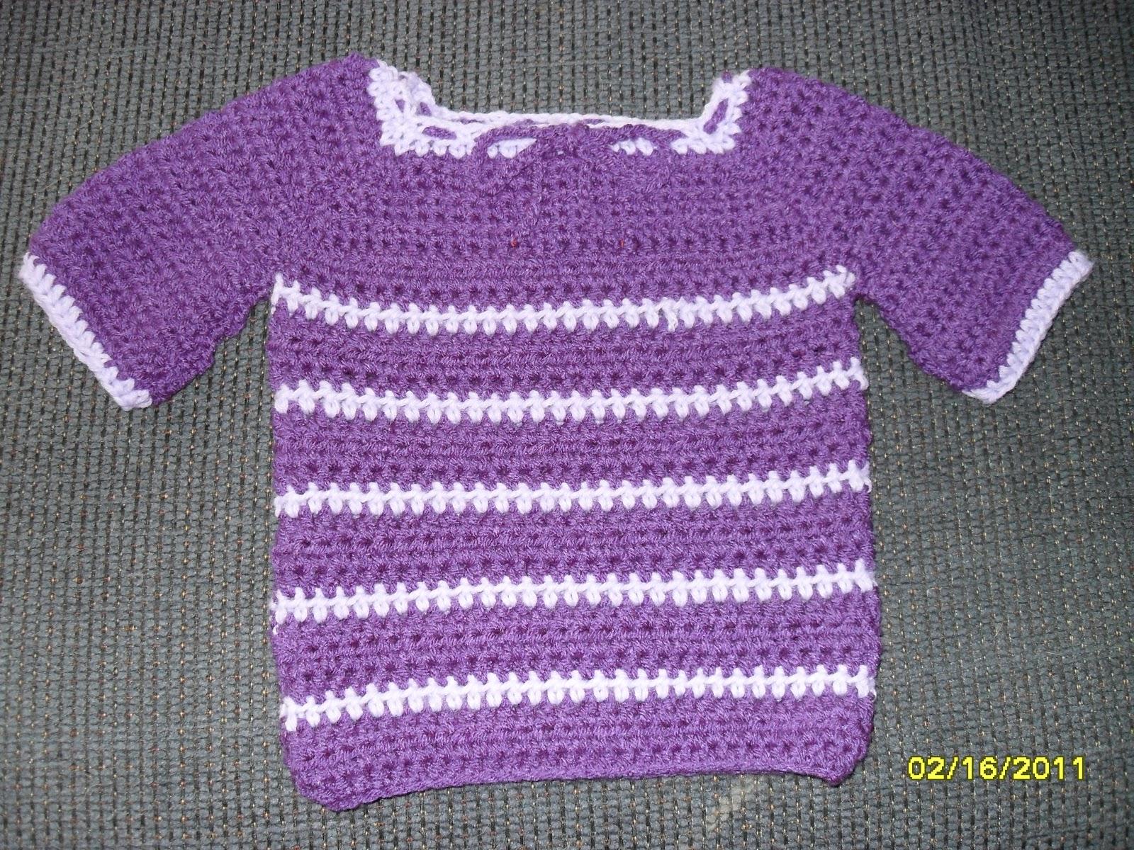Nanabells Crochet Creations: Crocheted Raglan Baby Sweater