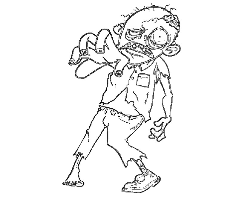 walking dead zombies coloring pages - photo#14