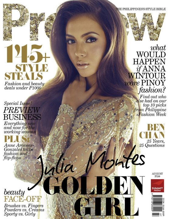 Julia Montes Covers Preview magazine August 2012 issue
