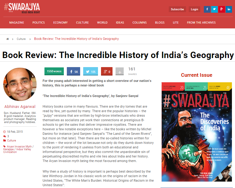 Book Review: The Incredible History of India's Geography - Swarajya Magazine