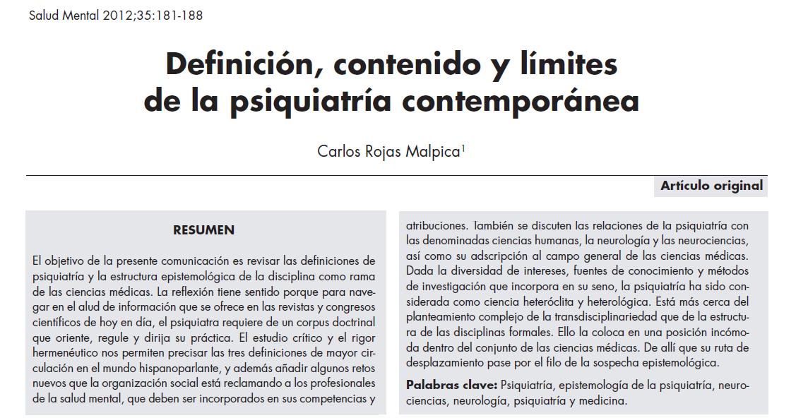 Docencia en psiquiatr a definici n contenido y l mites for Definicion de contemporanea