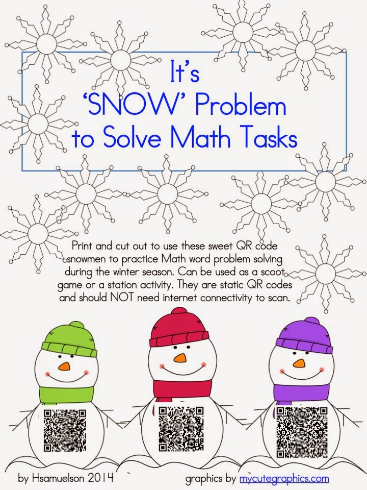 Mrs. Samuelson\'s Swamp Frogs: QR Snow Problems for Math
