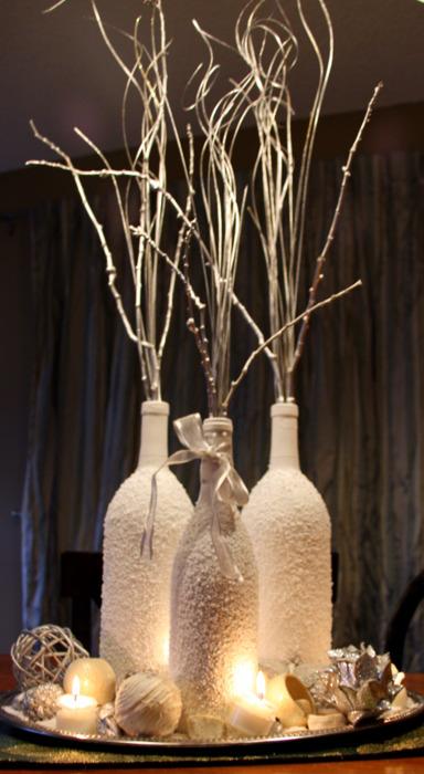 Centros de mesa con botellas de vino - Foro Manualidades para bodas - bodas.com.mx