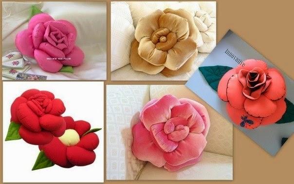 Подушка цветок своими рукам