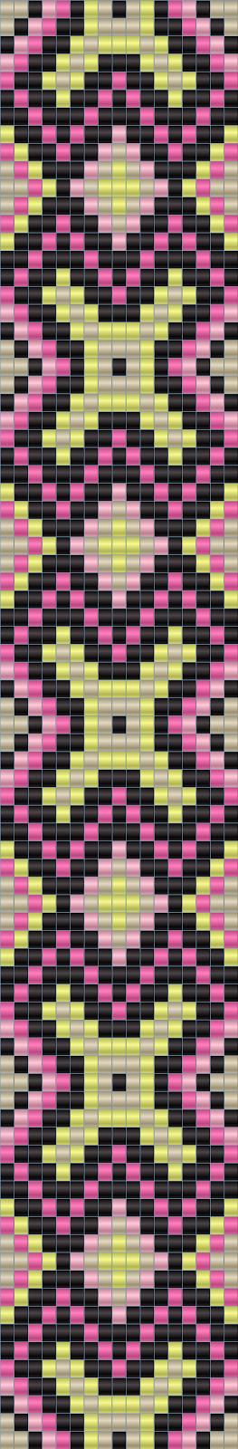 Схема браслета - ткачество