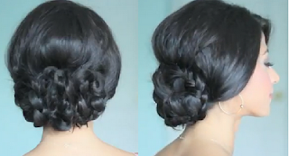 elegant and beautiful braided updo hairstyle for girls