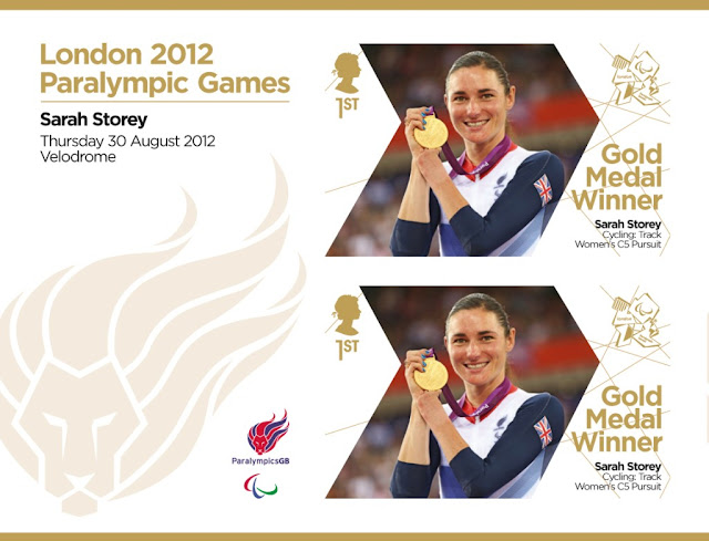Paralympic Gold Medal miniature sheet.