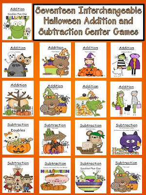 Picture of Fern Smith's Seventeen Interchangeable Halloween Addition and Subtraction Center Games