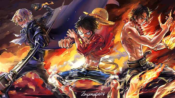 sabo, monkey d luffy and fire fist portgas d ace one piece