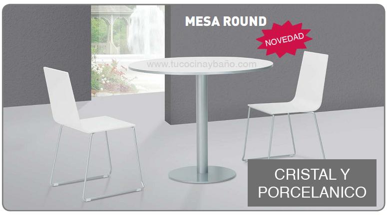 Mesa redonda porcelanico tu cocina y ba o for Mesa redonda cocina
