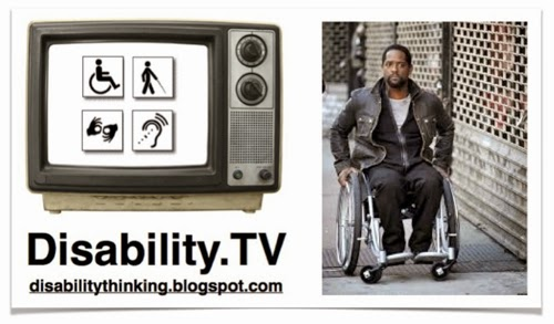 Disability.TV logo with photo of Ironside starring Blair Underwood