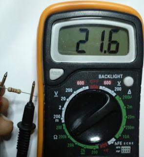 Mengukur Hambatan dan Menghitung Gelang Warna Resistor 1