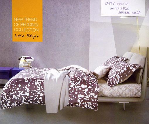 Sprei Katun Jepang Motif Abstrak Cocoa