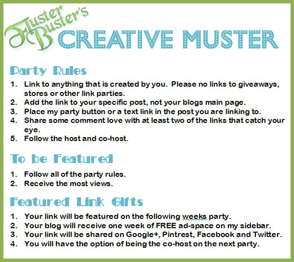 Fluster's Creative Muster Linky Party #77