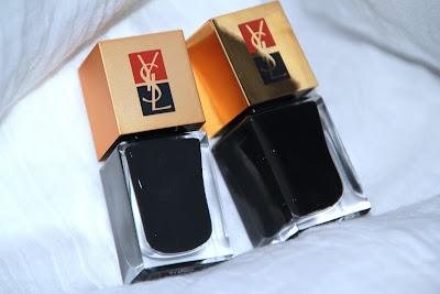 yves saint laurent ysl duo manucure couture n°6 terriblement noir test swatch avis essai blog