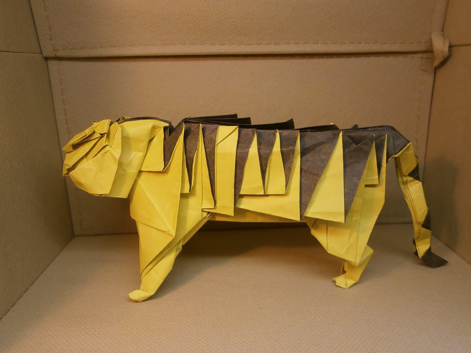 katakoto origami tiger from quotworks of hideo komatsuquot
