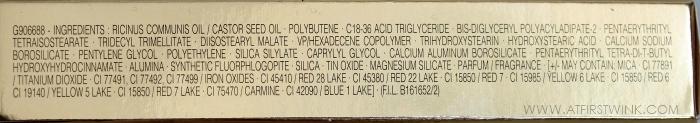 YSL gloss volupté 15 - grenade pépite ingredients list