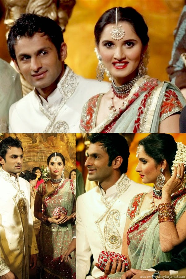 Shoaib Malik And Sania Mirza Unseen Wedding Pictures