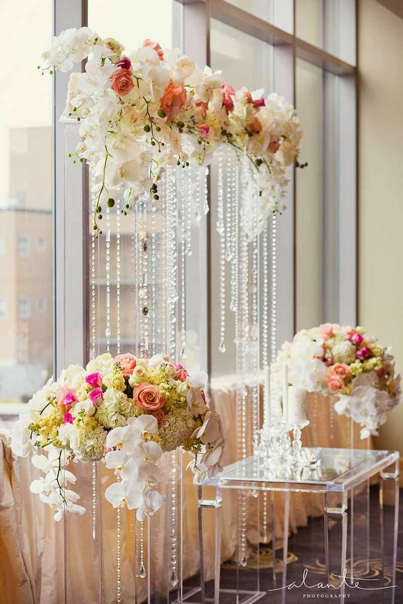 Four Seasons Hotel Seattle wedding, luxury wedding ceremony, wedding flowers