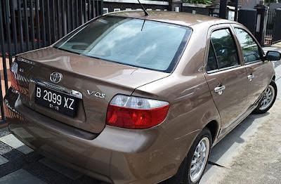 Modifikasi limo ke vios bagian belakang