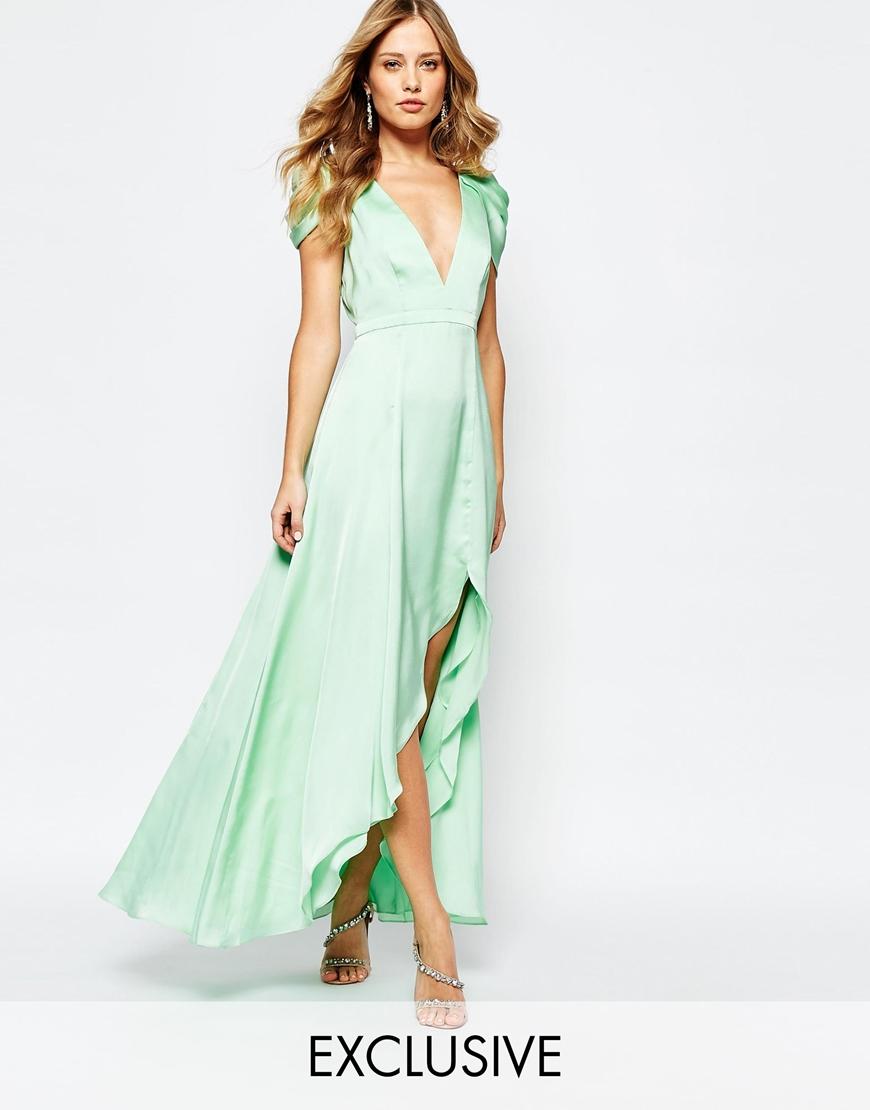 Vestido matrimonio verde