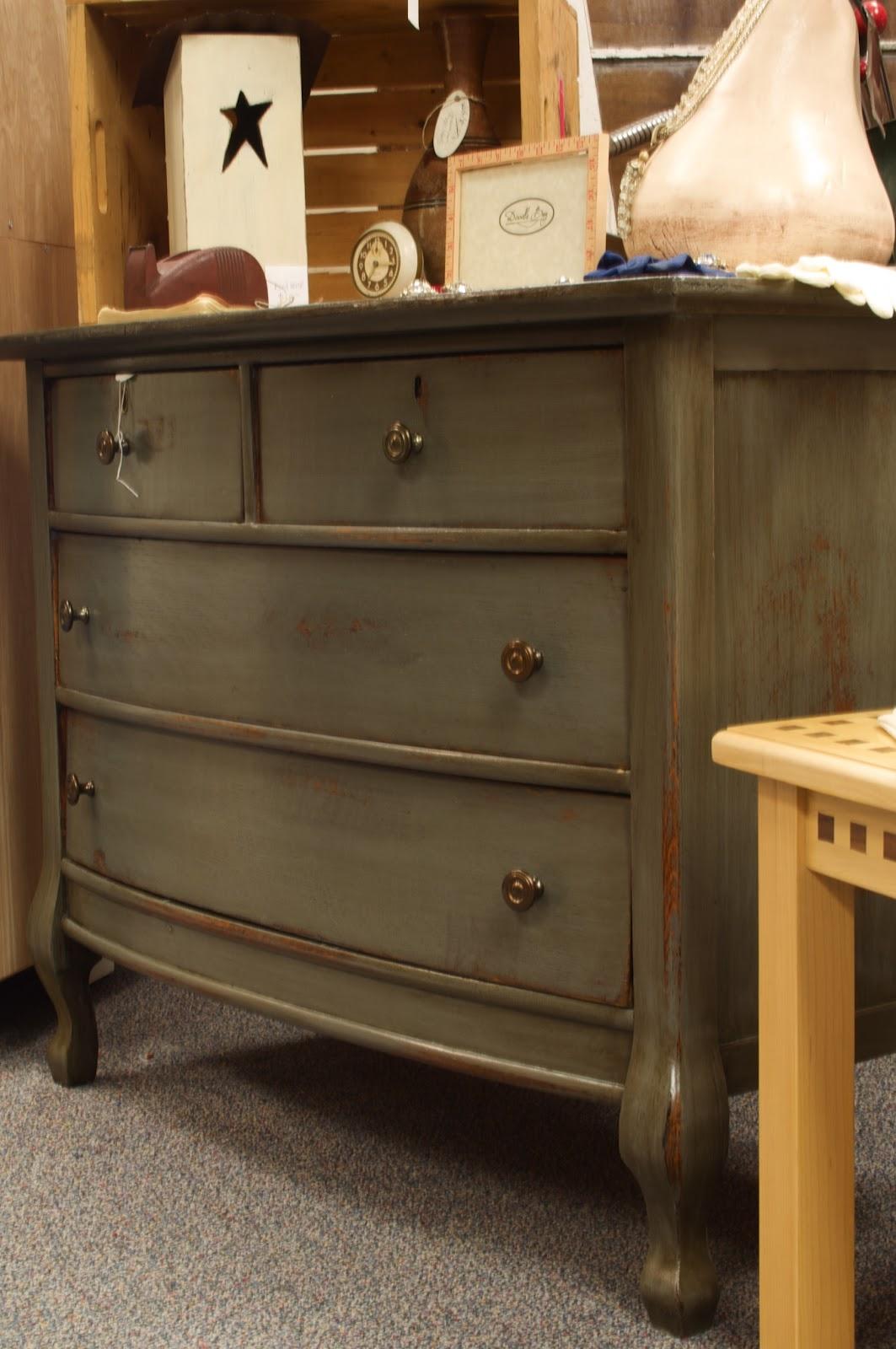 - Doodle Bug: Distressed Antique Dresser--Paint & Stain