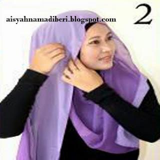 Cara Memakai Jilbab Kreasi Jilbab Pashmina Two Tone