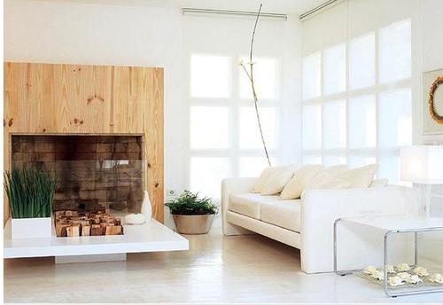 Sala De Estar Toda Branca ~ no tapete de nylon e no sofá de linho cru