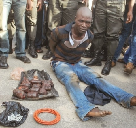 kidnapper robber arrested bomb